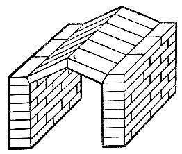 Рис. 27. Перекрытие узкого топливника треугольным сводом