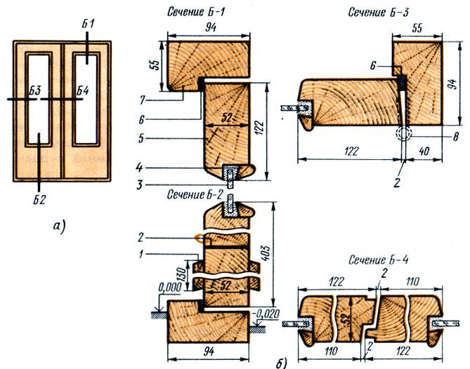 Двери деревянные наружные для